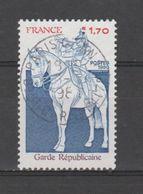 FRANCE / 1980 / Y&T N° 2115 : Garde Républicaine - Choisi - Cachet Rond - France