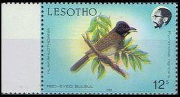 LESOTHO 1988 Birds Red Eyed Bulbul 12c MARG.ERROR:shift Black Right - Lesotho (1966-...)