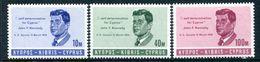 Cyprus 1965 President Commemoration Set MNH (SG 256-258) - Unused Stamps