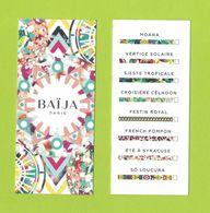 Cartes Parfumées Carte BAIJA  GAMME  RECTO VERSO - Profumeria Moderna (a Partire Dal 1961)
