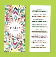 Cartes Parfumées Carte BAIJA  GAMME  RECTO VERSO - Cartas Perfumadas