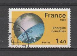 """FRANCE / 1981 / Y&T N° 2128 : """"Grandes Réalisations"""" (Energies Nouvelles) - Choisi - Cachet Rond - France"""