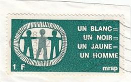 VIGNETTE MRAP 1991 - MOUVEMENT CONTRE LE RACISME - SUR FRAGMENT - CINDERELLA - Commemorative Labels