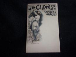 """Mode. """" La Chemise à Travers Les âges """" Chemise Louis XVI.Illustrateur Le Riverand.Avant 1903.Femme.Peintre .2 Scans. - Mode"""