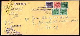 India Calcutta 1972 / Lion Capital Of Ashoka Pillar Edict - Service Stamp, Red, Black, Green, Refugee Relief Overprint - Brieven En Documenten