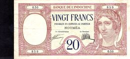 20 FRANCS NOUVELLE - CALEDONIE 1932 TB /  TTB - Indochine