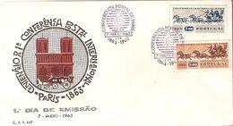 Portugal & FDC U.P.U Conference Of Paris Centenary, Universal Postal Union, Porto 1963 (1218) - FDC