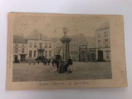 BELGIUM -  Flemish Brabant -  Aarschot - SOUVENIR D' AERCHOT - LE GRAND PLACE   - POSTED 1916 - POSTCARD - Aarschot