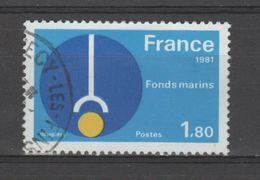 "FRANCE / 1981 / Y&T N° 2129 : ""Grandes Réalisations"" (Fonds Marins) - Choisi - Cachet Rond - France"
