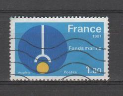 """FRANCE / 1981 / Y&T N° 2129 : """"Grandes Réalisations"""" (Fonds Marins) - Usuel - France"""