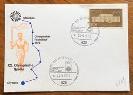 XX OLIMPIADE - MÜNCHEN 1972 - CARTOLINA VIAGGI FIAMMA OLIMPICA : MUNCHEN - OLYMPIA - ANNULLO OLIMPICO  BAD REICHENHALL 2 - Summer 1972: Munich
