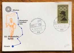 XX OLIMPIADE - MÜNCHEN 1972 - CARTOLINA VIAGGI FIAMMA OLIMPICA : MUNCHEN - OLYMPIA - ANNULLO OLIMPICO ROSENHEIM,OBERBAY - Summer 1972: Munich