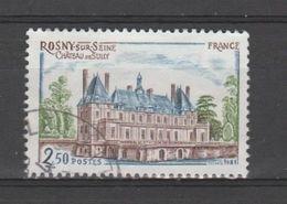 """FRANCE / 1981 / Y&T N° 2135 : """"Touristique"""" (Château De Sully à Rosny-sur-Seine - Yvelines) - Choisi - Cachet Rond - France"""