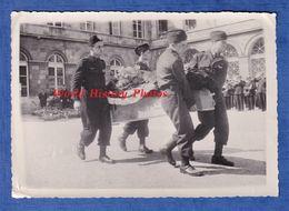 4 Photos Anciennes - Ville à Situer - Enterrement Militaire Post WW2 - Armée De L'Air Camion Pilote Aumonier Aviation - Krieg, Militär
