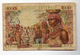 ETATS DE  L AFRIQUE EQUATORIALE 1   BILLET 1000 FRANCS - Gabun