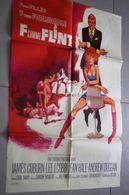 Ancienne Affiche De Cinéma Century Fox F Comme Flint James Coburn Lee J. Cobb Jean Hale Andrew Duggan 80cm X 60cm - Posters