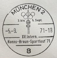 XX OLIMPIADE - MÜNCHEN 1972 - TEST-WETTKÄMPFE MÜNCHEN 71 - ANNULLO OLIMPICO MUNCHEN 2 - Summer 1972: Munich
