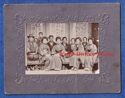 Photo Ancienne Avant 1900 - JAPON - Superbe Portrait D' Homme & Femme Japonais - Lire Verso - Costume Folklore - Anciennes (Av. 1900)