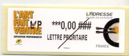 2014 LISA 2  VIGNETTE TEST  L'ART FAIT VENTRE - 2010-... Illustrated Franking Labels