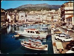 CARTE POSTALE _ CPA VINTAGE _ CPSM Photo : BASTIA _ Le Vieux Port - RENAULT 4L _ MERCEDES _ 2CV _ AMI 8   // CPA.L.Div47 - Bastia