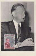 Carte  Maximum   1er  Jour  CONGO   Hommage  à   Dag  HAMMARSKJÖLD  1961 - Dag Hammarskjöld