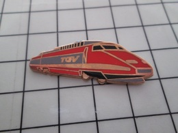 316c Pin's Pins / Beau Et Rare / THEME : TGV / RAME TGV ORANGE Par BALLARD - TGV