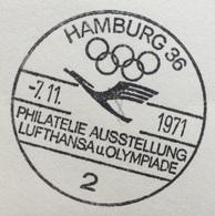 XX OLIMPIADE - MÜNCHEN 1972  - LUFTHANSA Und OLYMPIADE - ANNULLO OLIMPICO HAMBURG 36 - Summer 1972: Munich