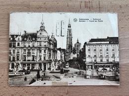 Canal Au Sucre Avec Chevaux, Trams, Piétons TB Voyagée 1933 - Antwerpen