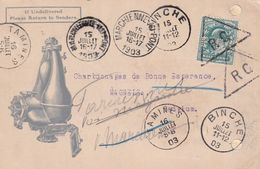 DDX 304 - UK Grande Bretagne - TP Edward PERFIN P.E.C. On Illustrated Card 1903 To Belgium - Storia Postale