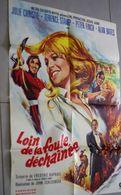 Ancienne Affiche De Cinéma Metro Goldwyn Mayer Loin De La Foule Déchaînée Julie Christie Terence Stamp Peter 80cm X 60cm - Affiches