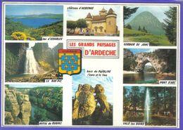 Carte Postale Géographique  Département 07 L'Ardèche  Très Beau Plan - Mapas
