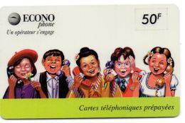 COLLECTION-  Carte Prépayée ECONOPHONE / 50F BANDE VERTE 5  ( Voir Photos Recto/verso Et Description) - Frankreich