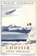 Très Belle Plaquette Publicitaire Pour La Marine Nationale Avec Une Illustrateur: Renluc - Navire De Guerre - Brest - Français