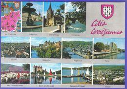 Carte Postale Géographique  Département 19. La Corrèze  Très Beau Plan - Mapas