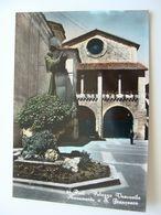 RIETI  MONUMENTO A SANTO  FRANCESCO    LAZIO  NON    VIAGGIATA  COME DA FOTO  ACQUERELLATA  * - Rieti
