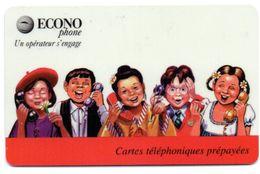 COLLECTION-  Carte Prépayée ECONOPHONE /  BANDE ROUGE 1 ( Voir Photos Recto/verso Et Description) - Frankreich