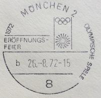 XX OLIMPIADE - MÜNCHEN 1972   - ANNULLO OLIMPICO MUCHEN 2 - EROFFNUNGS-FEIER - CELEBRAZIONE DI APERTURA - Summer 1972: Munich