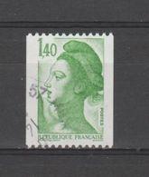 FRANCE / 1982 / Y&T N° 2191 : Liberté Roulette 1F40 Sans N° Rouge - Choisi - Cachet Rond - France