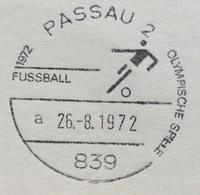 XX OLIMPIADE - MÜNCHEN 1972   - ANNULLO OLIMPICO PASSAU 2 -FUSSBALL - CALCIO - Summer 1972: Munich