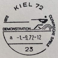XX OLIMPIADE - MÜNCHEN 1972   - ANNULLO OLIMPICO  KIEL 72 - DEMOSTRATION - Summer 1972: Munich