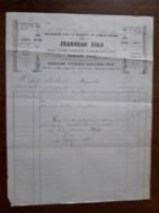L24/164 Ancienne Facture. Charolles. Appareils D'éclairage Jeandeau Fils . 1861 - 1800 – 1899