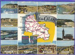 Carte Postale Géographique  Département 62. Le Pas-de-Calais   Très Beau Plan - Mapas