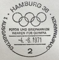 XX OLIMPIADE - SAPPORO 1972   - ANNULLO OLIMPICO  HAMBURG 36 - Summer 1972: Munich