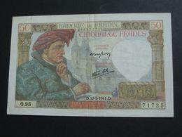 50 Cinquante Francs - Jacques Coeur - 17-7-1941   **** EN ACHAT IMMEDIAT **** - 50 F 1940-1942 ''Jacques Coeur''