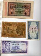 MONDE  LOT DE 6 BILLETS - Billetes