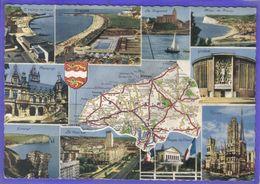 Carte Postale Géographique  Département 76. La Seine-Maritime Très Beau Plan - Mapas