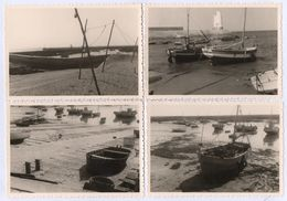 44 PIRIAC SUR MER - 15 PHOTOS Noir/Blanc - 8,9 X 12,5 Cm. - Bateaux