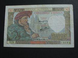 50 Cinquante Francs - Jacques Coeur - 24-4-1941   **** EN ACHAT IMMEDIAT **** - 1871-1952 Antiguos Francos Circulantes En El XX Siglo