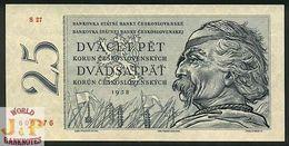 CZECHOSLOVAKIA 25 KORUN 1958 PICK 87a UNC - Cecoslovacchia