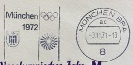 XX OLIMPIADE - MUNCHEN 1972- ANNULLO OLIMPICO   MUNCHEN BPA - Summer 1972: Munich
